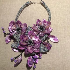 Glass and Bead Necklace